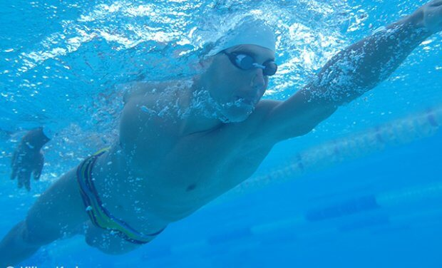 How to: the position of the shoulder during the extension of the arm under the water